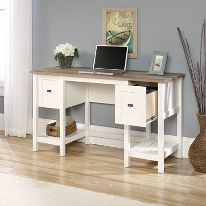 Sauder Cottage Road Desk Soft White By Office Depot Officemax