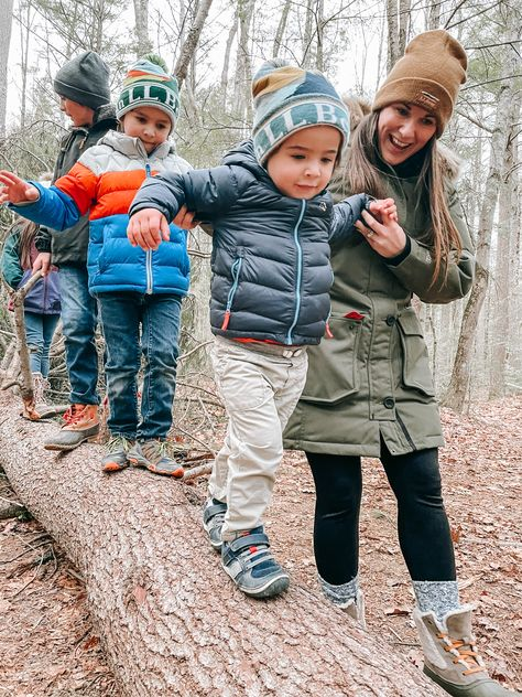 A walk in the woods as a family is one of the best ways to end the day! #BeanOutsider