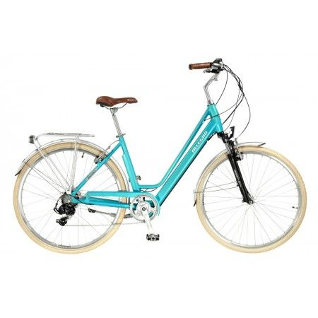 Das Leichte Und Komfortable City E Bike Mit Einem Integrierten Akku Im Rahmen Fur Muhelose Stadtrundfahrten Der Stylische Und Treue Begleiter Radeln Federgabel