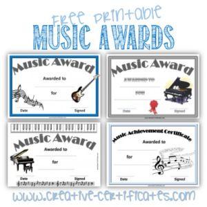 music award template
