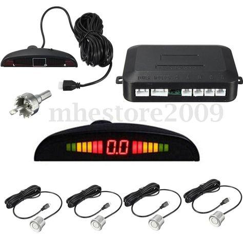 Pantalla LED Kit daide au stationnement pour voitures alarme + 4 capteurs KKmoon