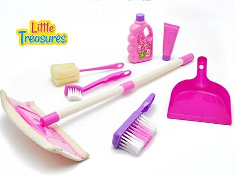 Little Treasures Small Sized 7-pc Cleaning Home Toy Set