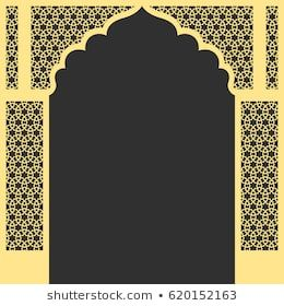 Arch Vector Images Stock Photos Vectors Shutterstock Islamic Wall Decor Jaali Design Flower Background Wallpaper