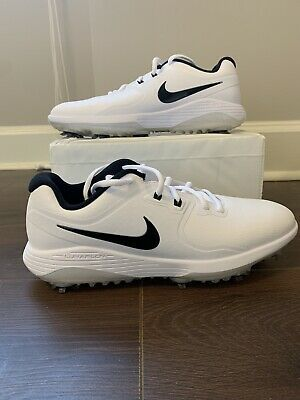 Nike Men S Vapor Pro Golf Shoes White Black Aq2197 101 Size 10 In 2020 Nike Men Golf Shoes Golf Shoes Mens