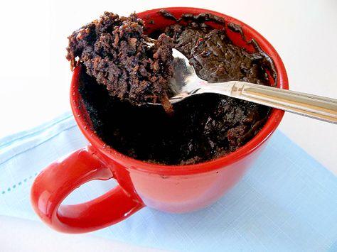 Microwave Coconut Mug Brownie