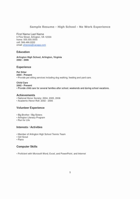 Resume Examples For Highschool Students Beautiful How To Make A Resume For A Highschool Student With No Job Resume Examples First Job Resume High School Resume