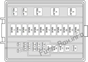 Fuse Box Diagram Ford Mustang 1998 2004 In 2020 Fuse Box Ford Mustang Mustang