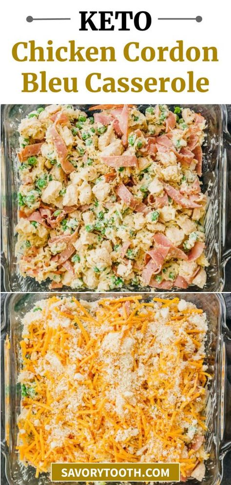 Baked Chicken Cordon Bleu, Chicken Cordon Bleu Casserole, Diet Recipes, Cooking Recipes, Healthy Recipes, Recipies, Dessert Recipes, Ketogenic Recipes, Healthy Eats