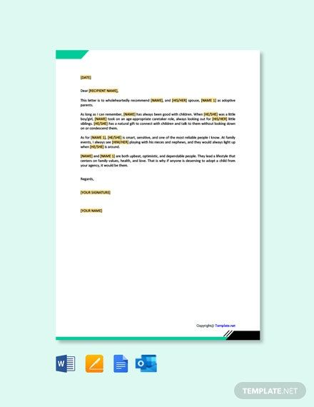 Adoption Reference Letter For Family Member Template Free Pdf Google Docs Word Template Net Reference Letter Lettering Character Letter For Court Sample adoption reference letter