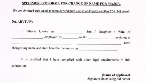 1) How do I legally change my name in India? How long it will take - resume for lawyers