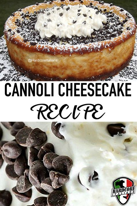 Cannoli Cheesecake Recipe Cannoli Cheesecake Recipe,Italian Recipes What's better than combining two desserts into one? Not very much… If you love cannoli (which all Italians do) and you love cheesecake, this recipe is a. Italian Desserts, Köstliche Desserts, Italian Recipes, Dessert Recipes, Italian Christmas Desserts, Greek Recipes, Healthy Desserts, Cannoli Cheesecake Recipe, Chocolate Cheesecake Recipes