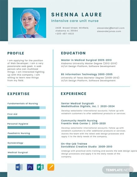 Nursing Student Cv Template Word Psd Apple Pages Publisher Cv Examples Cv Template Student Basic Resume Examples