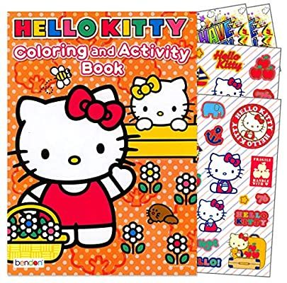 Amazon Com Hello Kitty Coloring Book With Stickers Set Bundle Includes Separately Licensed Gww Reward St Cat Coloring Book Hello Kitty Coloring Coloring Books