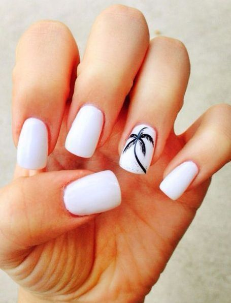 37 Nail Designs That Are So Perfect For Summer 2019 Beach Nail Designs Tropical Nails Cute Summer Nail Designs