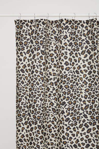 Leopard Print Shower Curtain Curtains With Rings Curtains