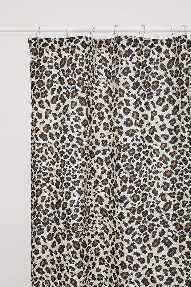 leopard print shower curtain light