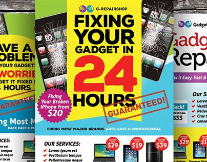 Check Out New Work On My Behance Portfolio Gadget Repair Flyer