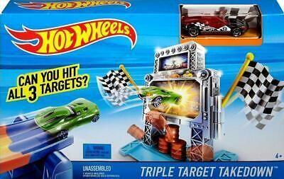 New Hot Wheels City Triple Target Takedown Track Set 1 Car Incl Hot Wheels Black Car Hot Wheels Races