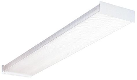 Lithonia Lighting Sb 232 120 Gesb 4 Foot 2 Light T8 Fluorescent Ceiling Fixture White Litho Fluorescent Light Fixture Kitchen Ceiling Lights Wraparound Lights