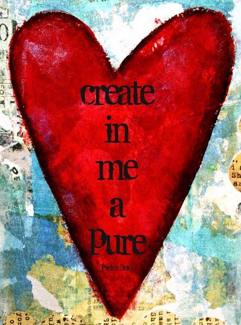 Heart Mixed Media canvas painting.  http://www.etsy.com/shop/stephanieackerman