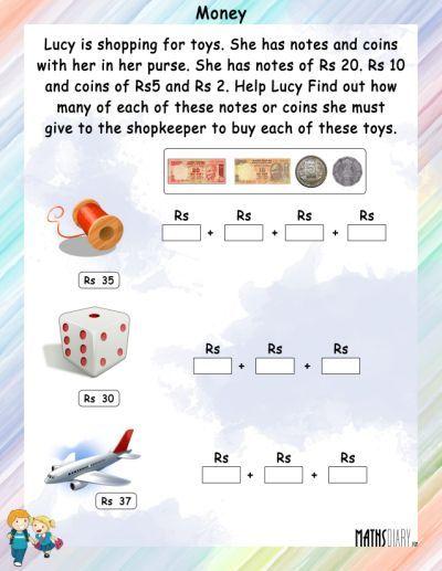 Currency Grade 2 Math Worksheets Money Worksheets Math