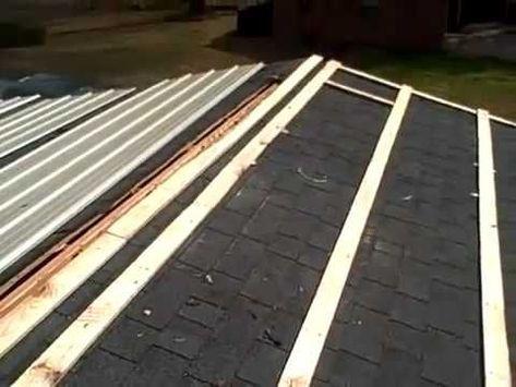 Metal Roofing Over Shingles Diy Metal Roof Roofing Diy Metal Roof Installation
