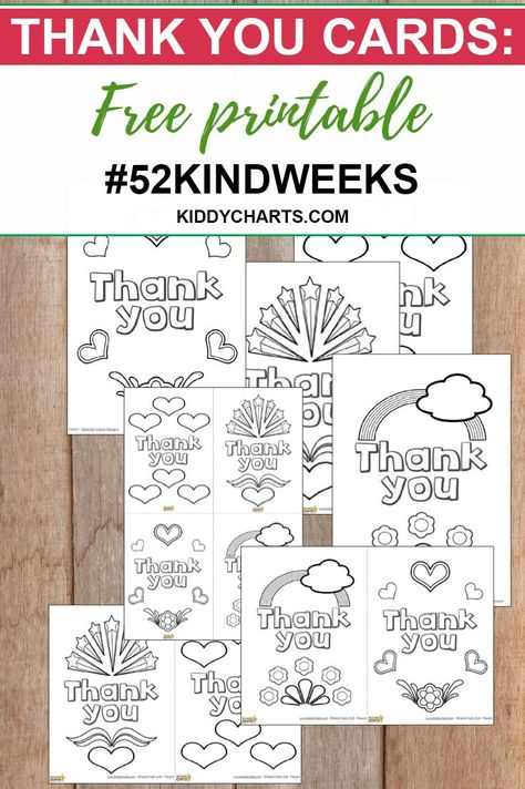 Our free printable thank you cards can be used anyway you like!