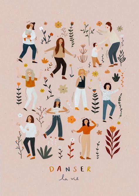 Danser la vie ║ Illustrated poster on Behance