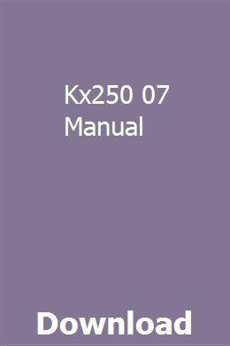 Kx250 07 Manual Manual Owners Manuals Pdf Download