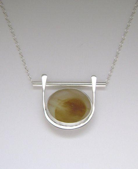 handmade casted pendant necklace music jewellery Bohemian bijoux TREBLE CLEF