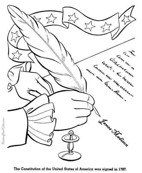 United States Constitution History Timeline For Kids In Coloring