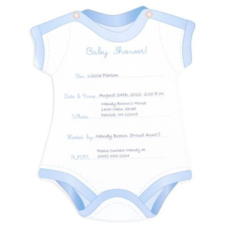 Snapsuit Boy Baby Shower Invitations Party City