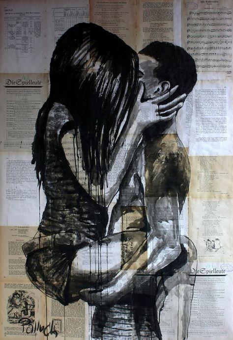 kiss Canvas Print by Gregor Krzyzanowski