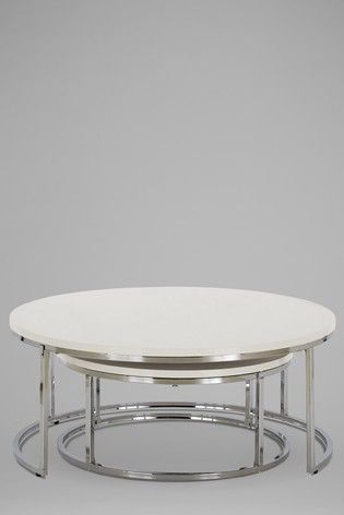 Set Of 2 Mode Coffee Nest Of Tables Table