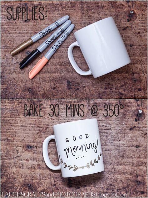 DIY: Personalized Coffee Mugs | Laughs, Crafts & Photographs -  DIY: Personalized Coffee Mugs | Laughs, Crafts & Photographs  - #coffee #coffeebrewing #coffeecanister #coffeecoffee #coffeecounter #coffeeflavors #coffeeillustration #coffeemugs #coffeenook #coffeepresentation #coffeerecipes #coffeesmoothie #coffeestarbuck #coffeetumbler #coffeetypes #coffeewallpaper #crafts #DIY #laughs #Mugs #personalized #photographs #thursdaycoffee