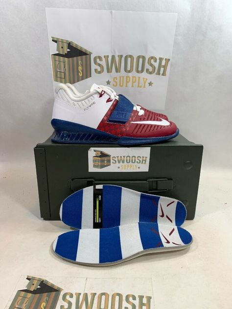 Size 7.5 Nike Romaleos 3 Americana Team Red/white-gym Blue Mens Aq0627 614 Men's Shoes