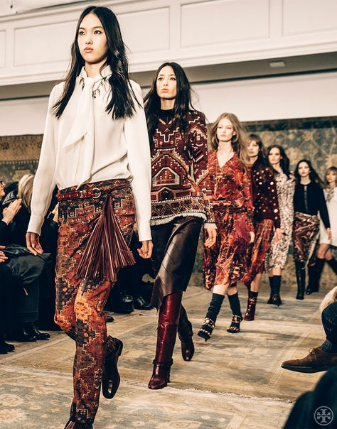Tory Burch Fall 15 Video: Consider this your front-row view to all the Fall 2015 runway action | Tory Daily