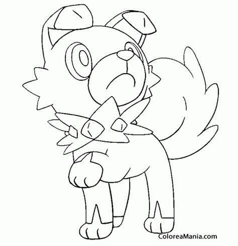 Colorear Rockruff Pokemon Sol Y Luna Dibujos Para Colorear
