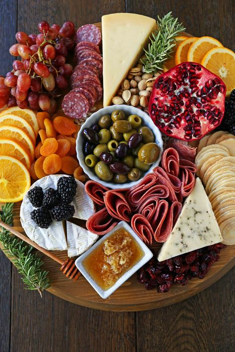 Charcuterie Board (meat and cheese platter) - Modern Honey . - Charcuterie Board (meat and cheese platter) – Modern Honey - Charcuterie Board Meats, Plateau Charcuterie, Charcuterie Recipes, Charcuterie And Cheese Board, Cheese Boards, Thanksgiving Appetizers, Appetizers For Party, Appetizer Recipes, Fruit Appetizers