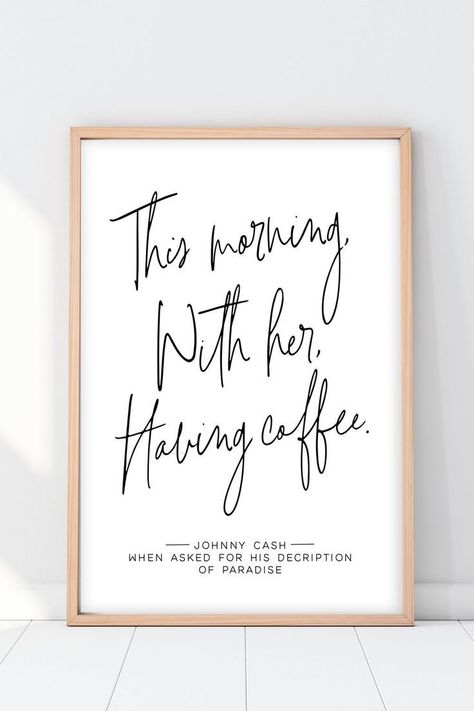 Coffee Bar Sign | This Morning With Her Having Coffee Print in 2020 | Hochzeitsschilder, Kaffeebar i