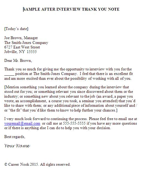 This sample interview thank-you letter shows how you can seal the - sample interview thank you note
