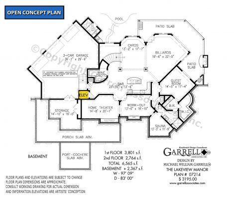 Lakeview Manor House Plan 07214 Garrell Associates Inc Lake View House Plans House Plans Floor Plans