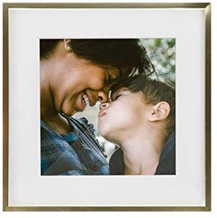 Tiny Mighty Frames Gold Metal Square Photo Frame 11x11 8x8 Matted 1 Gold Photo Frame Square Photos Photo