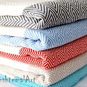 Herringbone Turkish Towel Bachelorette Party Favors Beach Towel