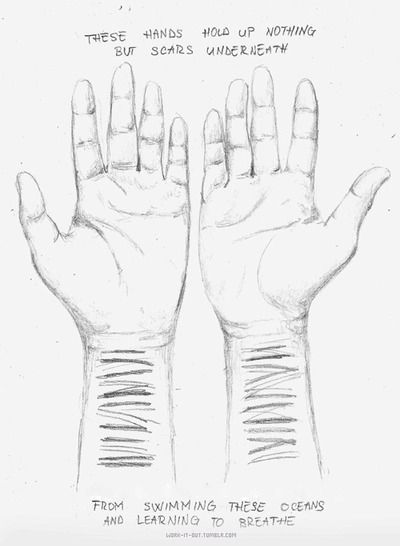 22 Best Self Harm Drawing Images Draw Thoughts Depressing Quotes
