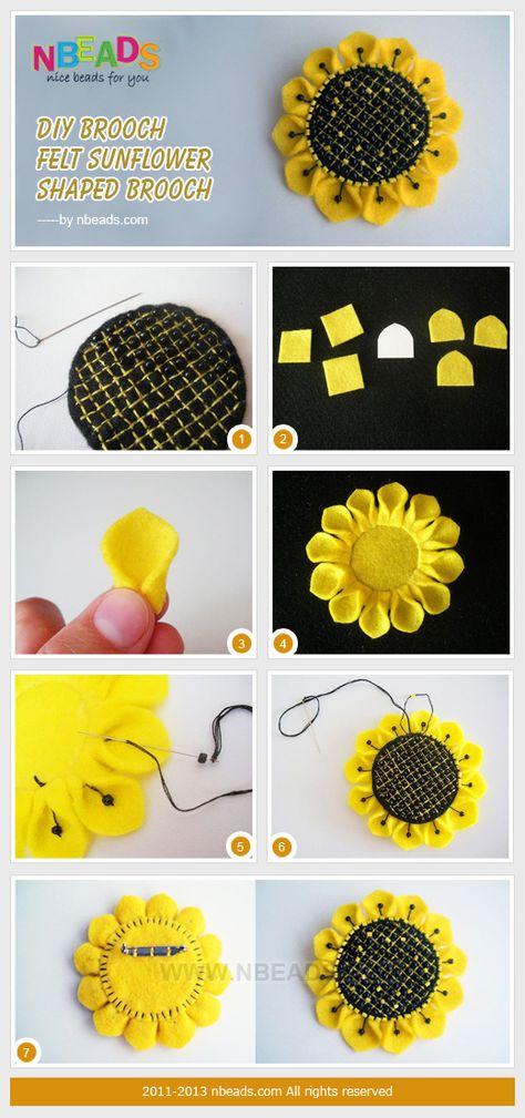 Sunflower Wall Hangings With Yo Yos