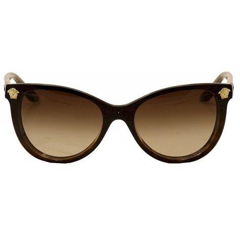 b99064acb (205 CAD) ❤ liked on Polyvore featuring accessories, eyewear, sunglasses, versace  eyewear, cateye sunglasses, cat eye glasses, versace glasses en cateye ...