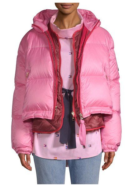 40bb3afe638de Multicolor double down puffer coat by Tommy Hilfiger Collection   tommyhilfigercollection  jackets  outerwear