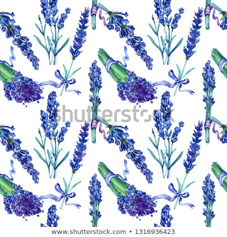 Violet Lavender Seamless Background Pattern Fabric Wallpaper