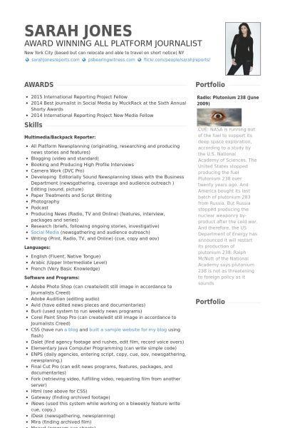 Cv Template Journalist Cvtemplate Journalist Template Cv Template Freelance Writer Resume Freelance Writing